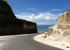 jalan menuju pantai pandawa